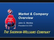 Market & Company Overview - Sherwin-Williams