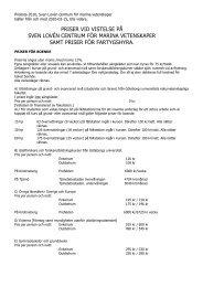 priser vid vistelse på sven lovén centrum för marina vetenskaper ...