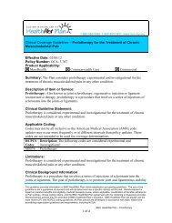 Prolotherapy for the Treatment of Chronic Musculoskeletal Pain ...