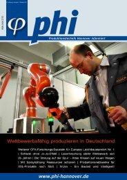 phi Ausgabe 2/2011 - Produktionstechnik Hannover informiert