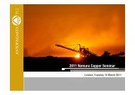 Investor presentation: Nomura Copper Seminar - Antofagasta plc