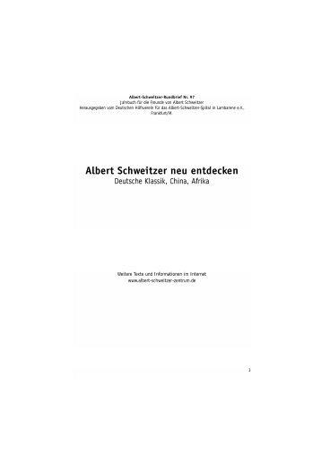 Albert-Schweitzer-Rundbrief 2005 - Deutsches Albert-Schweitzer ...