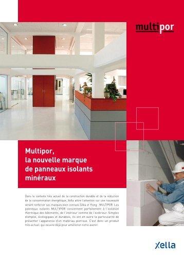 Multipor, la nouvelle marque de panneaux isolants minéraux