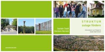 STRUKTUR zutage fördern - Soziale Stadt Dorsten-Hervest
