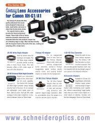 Pro Series HD - Schneider Optics