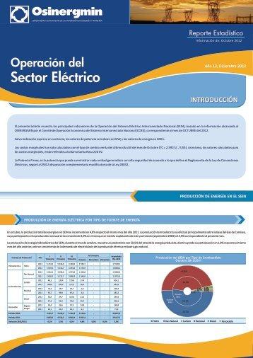 Sector Eléctrico - osinergmin
