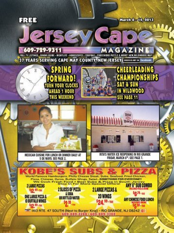 2 Large Pizzas & 20 WiNgs - Jersey Cape Magazine