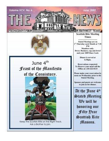 June 2009 - Valley of San Antonio - Albert Pike Chapter No. 58