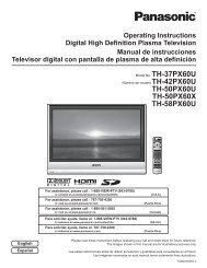 TH-50PX60U TH-50PX60X TH-58PX60U - Panasonic