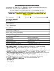 food establishment plan review questionnaire worksheet - Southern ...