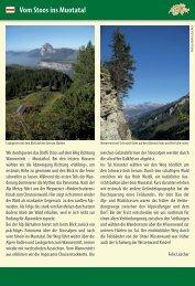 Vom Stoos ins Muotatal - Tourismus der Gemeinde Illgau