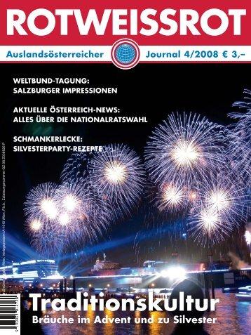 ROTWEISSROT Ausgabe IV/2008 - Auslandsösterreicher-Weltbund