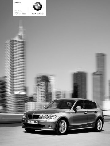 Freude am Fahren BMW 1er Preisliste Stand ... - Lexsystems