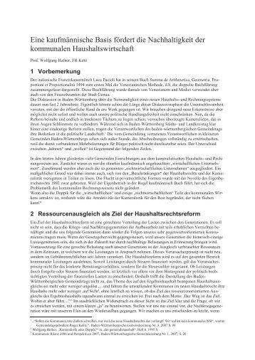 Ressourcenausgleich im neuen Haushaltsrecht - Verwaltung.modern