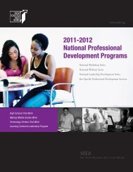 2011-2012 National Professional Development Programs