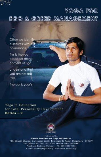 Yoga for Ego & Greed Management