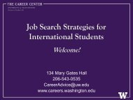 Job Search Strategies for International Students - The Career Center ...