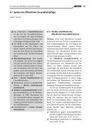 6.1 System der öffentlichen Gesundheitspflege