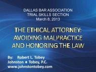 March 8, 2013 Presentation - Dallas Bar Association