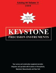 Catalog 09 Volume 11 2009 - Keystone Precision Instruments