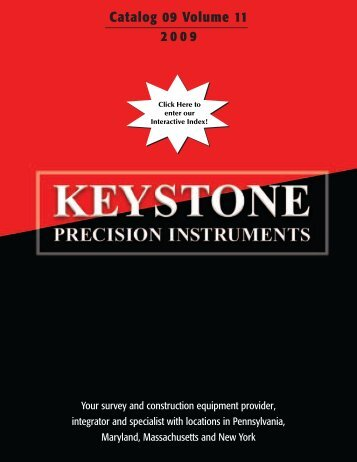 Catalog 09 Volume 11 2009 - Keystone Precision Instruments