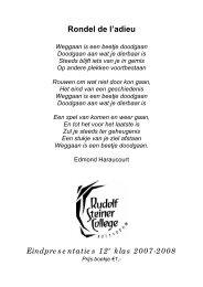 Rondel de l'adieu - Rudolf Steiner College Rotterdam