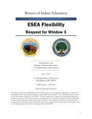 ESEA Flexibility - Bureau of Indian Education