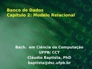 Modelo Relacional - Departamento de Sistemas e Computação ...
