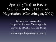 Science and the UN Climate Negotiations (Copenhagen, 2009)