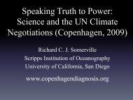 Science and the UN Climate Negotiations (Copenhagen, 2009)
