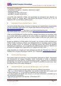 Compte-rendu de la réunion du Conseil d'Administration - SFA - Page 3