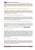 Compte-rendu de la réunion du Conseil d'Administration - SFA - Page 5