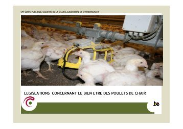 Législation concernant le bien-être des poulets de chair, E ... - FACW