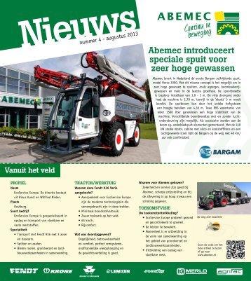 Abemec introduceert speciale spuit voor zeer hoge gewassen