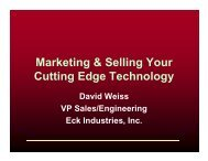Marketing & Selling Your Cutting Edge Technology