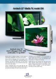 Amitech stue TV med indbygget DVD, USB, cardreader, CI ... - Lomax