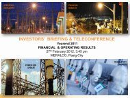 2011 Year-End Investors' Briefing Reports - Meralco