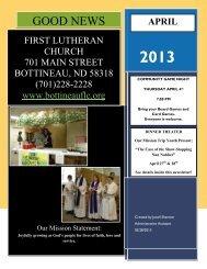 April 2013 Newslette.. - First Lutheran Church