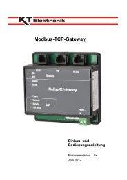 Modbus-TCP-Gateway - KT-Elektronik