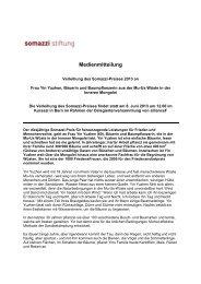 Medienmitteilung zur Verleihung des Somazzi Preises ... - alliance F