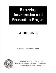 Battering Intervention and Prevention Project - Texas Council on ...