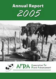 Annual Report 2005 - AFRA