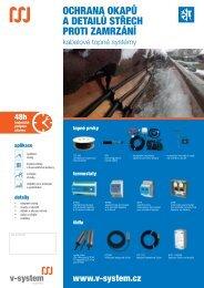 ochrana okapů a detailů střech proti zamrzání - V-System elektro