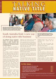 Issue 10 - National Native Title Tribunal