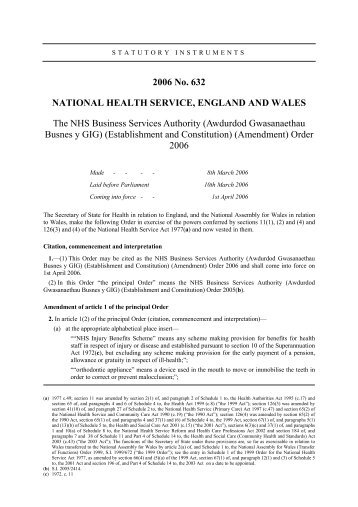 Memorandum of understanding with monitor nhs business si 2006 no632 nhs business services authority spiritdancerdesigns Image collections