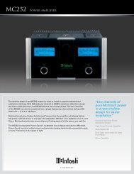 """two channels of pure McIntosh power in a new shallow design for ..."
