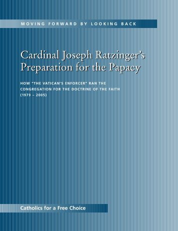 Cardinal Joseph Ratzinger's Preparation for the Papacy Cardinal ...