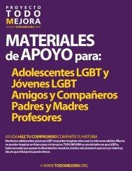 Adolescentes LGBT y Jóvenes LGBT Amigos y ... - Todo Mejora