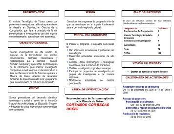CONTAMOS CONBECAS DGEST - Instituto Tecnológico de Toluca