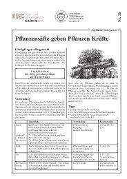 Pflanzensäfte geben Pflanzen Kräfte - und Umweltschutz-Akademie ...